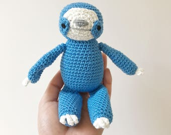 SLOTH amigurumi crochet, sloth toy, sloth gift, gift for kids, sloth baby gift, sloth birthday gift, happy sloth toy, sloth softie