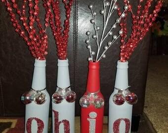 OHIO or ANY Team Bottle - Set of 4