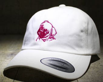 Pug - choose hat color dad hat with embroidery