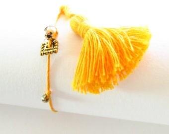Waxed cotton bracelet 16304