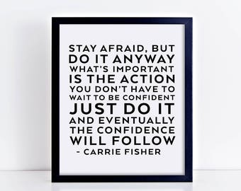 Carrie Fisher quote, digital printable, quote printable