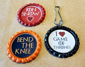 Game of Thrones magnet & keychain set