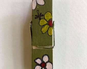 Chip Clip with flowers