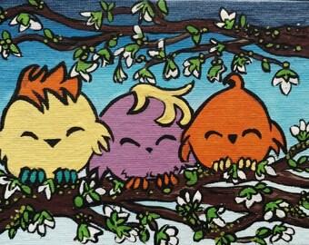 little fellas in a tree