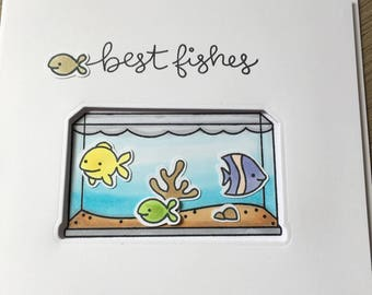 Best wishes 'Best fishes' tropical fish tank card