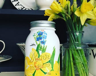 Hand Decorated Jar