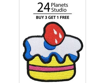 Cake Iron on Patch by 24PlanetsStudio