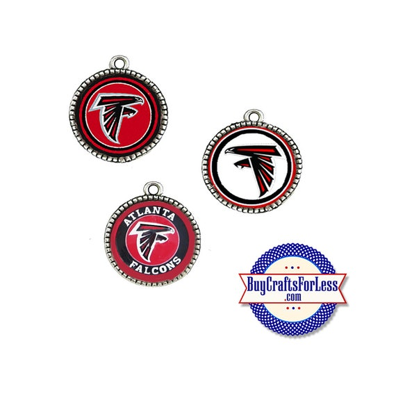 ATLANTA Football CABOCHON, 18mm, CHooSE Logo, Glass or Epoxy Cover  - Super CUTE!  +FReE SHiPPiNG & Discounts*