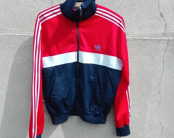 Red Blue vintage Adidas jacket