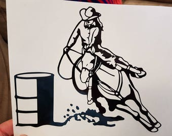 Barrel Racer Vehicle Decal 1/ free shipping