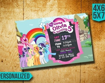 My Little Pony Invitation / My Little Pony Birthday Invitation / Little Pony Birthday / Little Pony Party / Little Pony Invite / Little Pony