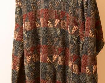 80s Munsingwear men's geometric pattern sweater
