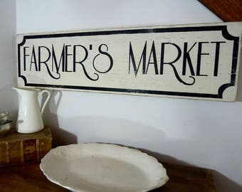 Farmers Market Sign, Farmers Market, Farmhouse Market Decor, Farmhouse Sign, Farmhouse Wall Decor, Rustic Wood Sign, Farmhouse Wood Sign,