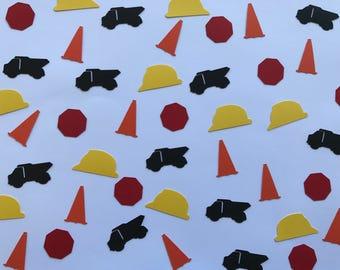 Construction Confetti - Construction Party Decor - Boy Birthday Party Decor - Construction Theme Party - Dump Truck Party - Construction