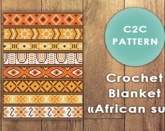 Blanket C2C crochet pattern. corner to corner crochet pattern. C2C crochet blanket. Crochet graph pattern. Afghan crochet pattern.
