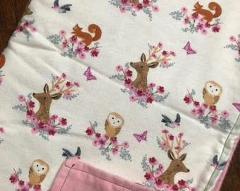 Deer head baby swaddle - flannel
