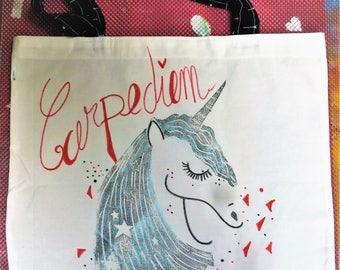 Unicorn cotton tote bag