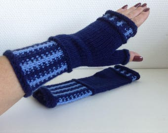 Handknitted fingerless gloves, mittens, wrist warmers, winter accessories, gift, ready to ship