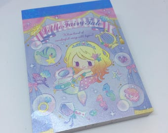 Kawaii Cute Little Fairy Tale Mini Memo Pad direct from Japan Stationary School Office Supply Planner Kitsch Pastel 90 Sheets