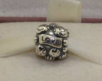 Genuine Love and Family Silver Charm/Fully Stamped