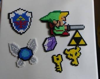 The Legend of Zelda Bead Art   magnets