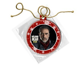 The Walking Dead Negan Jeffrey Dean Morgan Christmas Ornament