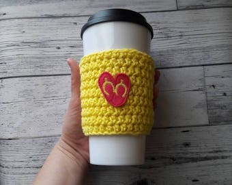 Crochet coffee cozy, sandals cup cozy, coffee sleeve, Mother's day gift, crochet coffee sleeve, mug cozy, gift for mom, gift for her, summer