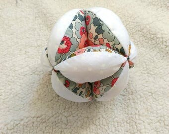 Ball of gripping montessori baby (made to order with choice of fabrics)
