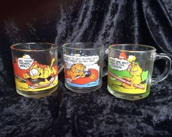 Garfield Glass Mugs