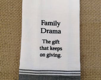 Funny Kitchen Dish Towel or Tea Towel _ Perfect Gift for Friends, Hostess and Housewarming.