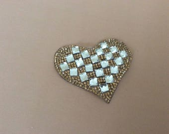 Rhinestone 6 * 6 cm Butterfly appliques paste iron ironing