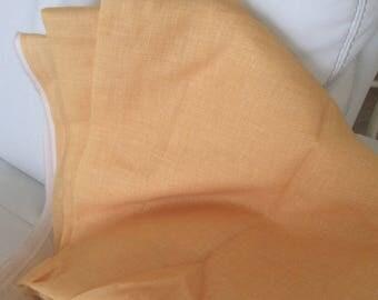 145 cm wide yellow linen fabrics