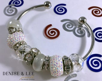 White European Beaded Bracelet