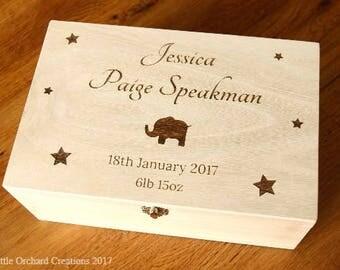 Personalised Baby Memory Box, Personalised Baby Keepsake Box, Keepsake Box, New Baby Gift, Gift for New Baby, Memory Box, Baby Gift,New Baby