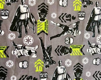 Star Wars Graphic Art Galactic Empire Fabric By The Yard