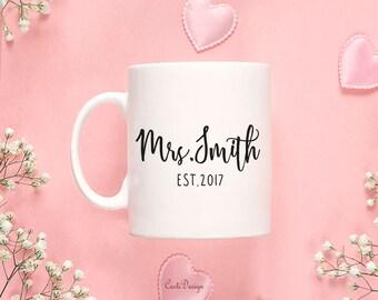 Bridesmaid Gift Bridesmaid Coffee Mug Gift Bridesmaid Mug Personalized Wedding Party Gift Name Coffee Mug 161