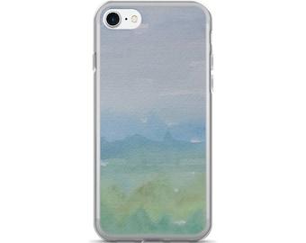 Unique phone case, mountain cell case, iPhone 7 7 Plus Case, Pretty phone case, Nature phone cover, Watercolor case, artist painted case
