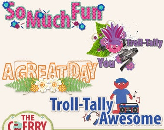 Trolla Bolla Title Art for Scrapbooking
