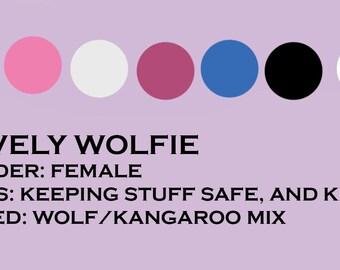 Female Wolf Fursona Adoptable