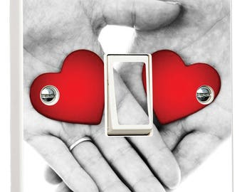Hands with Love Holding Relationship Light Switch Cover Skin Sticker Decal