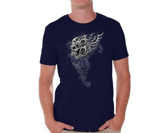Skull Lure Shirt T shirts for Men Shirts Tshirts Tops Tees Sugar Skull Shirt Day of Dead Shirt Tshirt