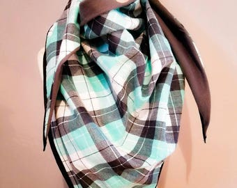 Blanket scarf-plaid-reversible-flannel