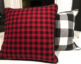Red Buffalo plaid pillow cover
