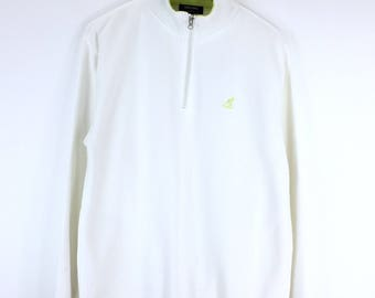 Rare!!! Kangol Sport Sweatshirt Small Logo Basic Half Zipper Embroidery Pullover Jumper Sweater KGSP England