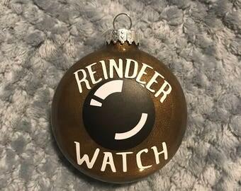 Reindeer Watch glass ornament