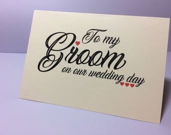 To my Groom husband to be card love note