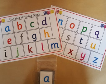 Alphabet Matching Game - capital and lower case letters, letter recognition, learning game ,KS1, EYFS,  teaching resource, home schooling,