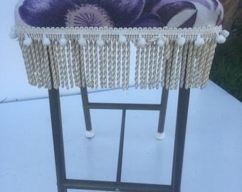 Pretty fringed vintage stool
