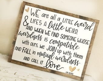 Dr Seuss Weird Love Quote Poster Extraordinary Dr Seuss Weird  Etsy