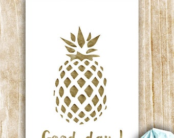 "Carte ""Good Day"" motif Ananas"